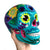 Hand Painted Ceramic Mexican Sugar Skull, turquoise blue