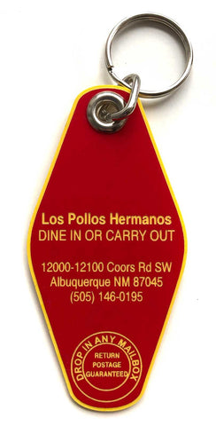Los Pollos Hermanos Keychain, Breaking Bad inspired Key Ring
