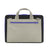 M.R.K.T. Frank Laptop Brief, Black / Stone Grey