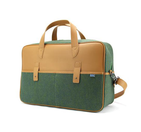 M.R.K.T. Martin Travel Bag, Midnight Green / Oiled Oak