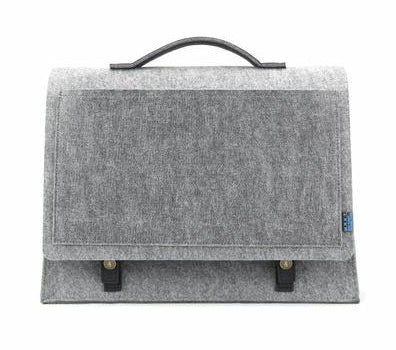 M.R.K.T. Mateo Mini Briefcase, Elephant Grey SMRT FELT