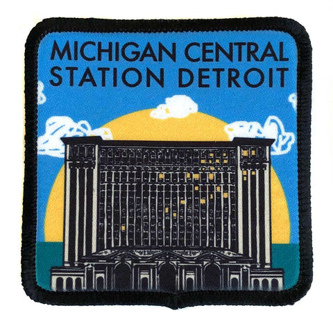 Michigan Central Station Detroit Iron-on Patch, Well Done Goods