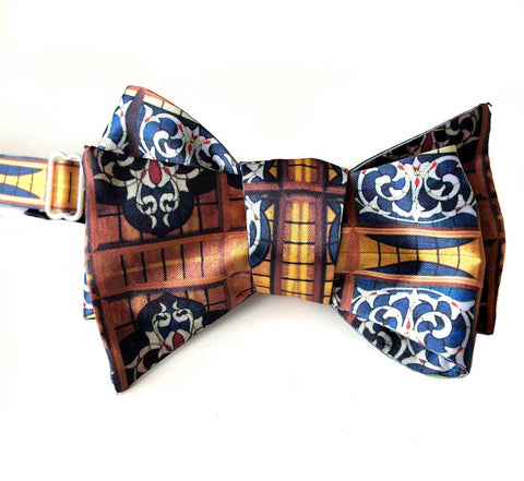 Michigan Opera Theatre Lobby Stained Glass Ceiling Bow Tie, by Cyberoptix