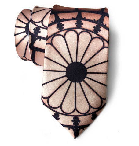 Michigan Opera Theatre Mezzanine Stained Glass Rosette Necktie, by Cyberoptix