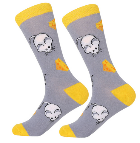 Mouse & Cheese Men's Socks