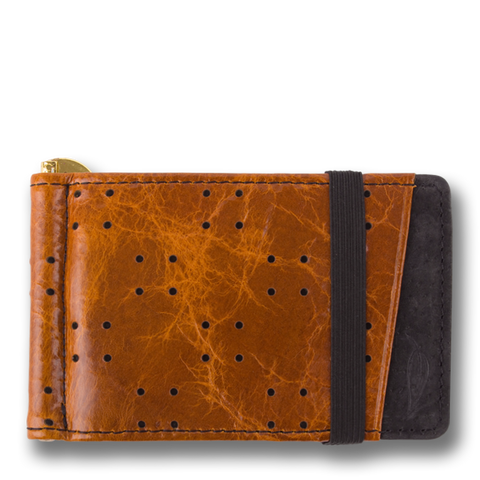 Corinthian Brown & Black Leather Wallet: ARMADA by Orchill. Well Done Goods