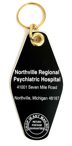 Northville Regional Psychiatric Hospital Motel Style Keychain, Well Done Goods