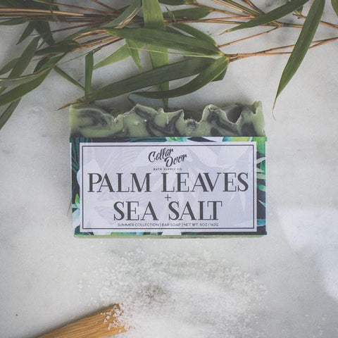Cellar Door Bar Soap: Palm Leaves + Sea Salt, at Well Done Goods