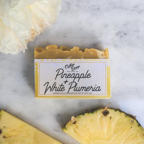 Cellar Door Bar Soap: Pineapple + White Plumeria, at Well Done Goods