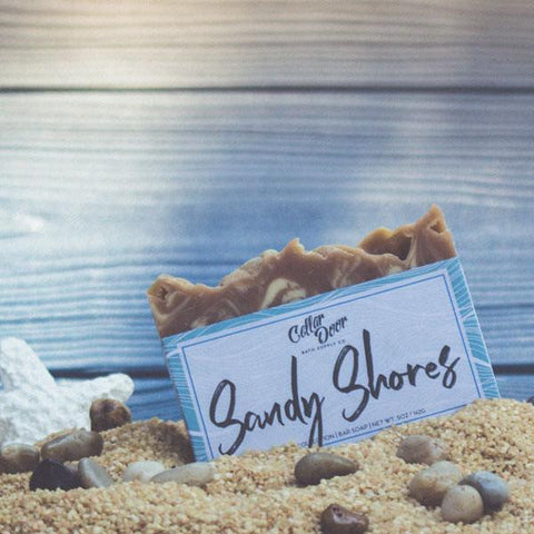 Cellar Door Bar Soap: Sandy Shores, at Well Done Goods