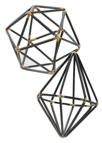 Brazed Steel Geometric Mini Sculptures, Well Done Goods
