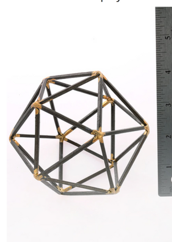 Metal Wire Frame Dodecahedron, Well Done Goods