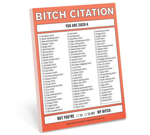 Bitch Citation Nifty Notes, Well Done Goods
