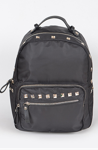 Mini Black Backpack with Silver Studs, Well Done Goods
