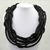 Long, Loosely Woven Rope Statement Necklace, Black. Well Done Goods