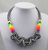Rainbow Wrap Knotted Rope Statement Necklace, Black & White Checker. Well Done Goods