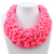 Oversize Bib Collar, woven hot pink cotton rope. At Well Done Goods