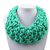 Oversize Bib Collar, woven mint green cotton rope. At Well Done Goods