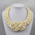 Sailor Knot Woven Rope Statement Necklace, cream. Well Done Goods