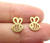 Bee Gold Stud Earrings, Jewelry for Women, Well Done Goods