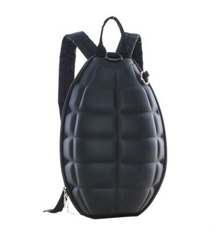 Grenade 3D Black Mini Backpack, Well Done Goods