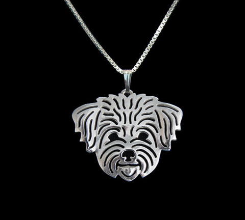 Shi Tzu Dog Silver Wireframe Necklace, Well Done Goods