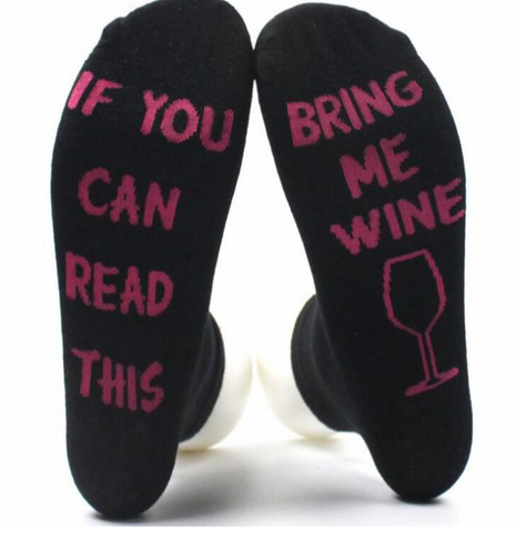 If You Can Read This, Bring Me Wine. Fuchsia/Black