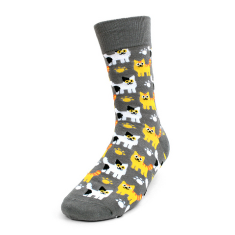 Kitten Socks, Parquet Fancy Men's Socks