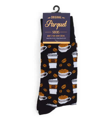 Parquet Men's Coffee Socks Black