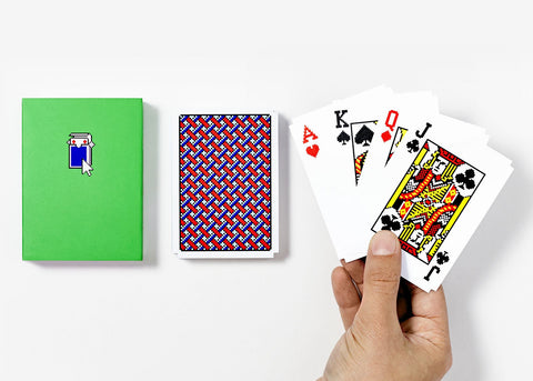Pixelated Solitaire Playing Cards, Susan Kare for Areaware. Well Done Goods