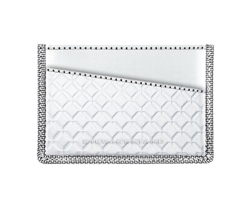 STEWART/STAND RFID Blocking Card Case, Small Silver Diamond
