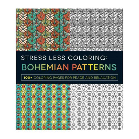 Stress Less Coloring: Bohemian Pattern Adult Coloring Book.