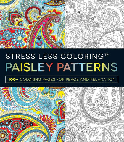 Stress Less Coloring Paisley Pattern Adult Book
