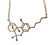THC Molecule Necklace, gold. Well Done Goods