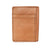 Tan Natural Leather Front Pocket Card & Cash Wallet, by Hold Supply