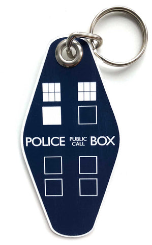 TARDIS Keychain, Dr. Who inspired police box key ring