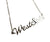 West Side Script Necklace, silver. Detroit Neighborhood Name Pendant, by Well Done Goods