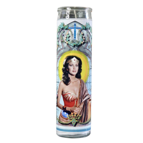 Wonder Woman Celebrity Prayer Candle - Lynda Carter, by Do Pray Tell