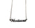 Silver Woodward Avenue Script Necklace. Detroit Neighborhood, well done goods by Cyberoptix