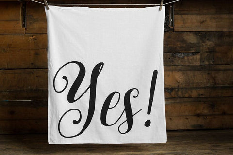 Yes Print Cotton Flour Sack Towel, by Well Done Goods