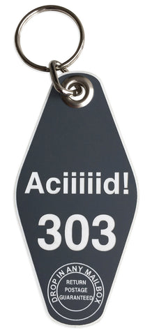Aciiiiid! 303 Motel Style Keychain, Well Done Goods