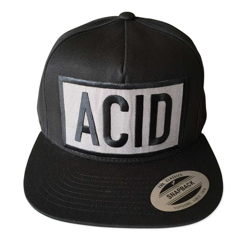 Acid Text Snapback Cap, Well Done Goods