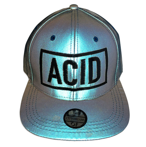 (Flash on) ACID Hat. Blue Limited Edition 3d Embroidered Retroreflective Cap