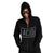 ACID Text Print Black Unisex Zip Up Hoodie, Acid Techno Print, Well Done Goods