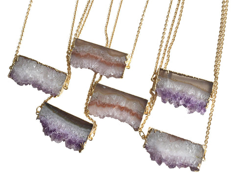 Amethyst Slice Pendant, by Well Done Goods