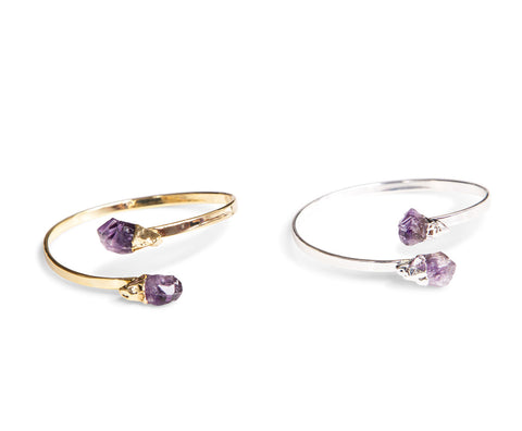 Amethyst Crystal Dual Point Bracelets, Well Done Goods