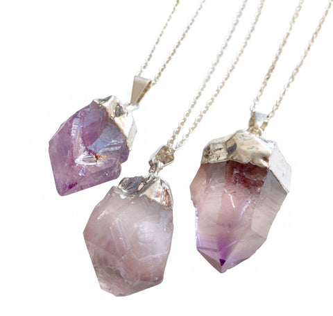 Amethyst Point Pendant, Pale Purple, by Well Done Goods