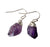 Amethyst Crystal Point Earrings, Raw Stone & Silver. Well Done Goods
