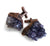 Amethyst Crystal Cluster Cufflinks, Electroformed Copper