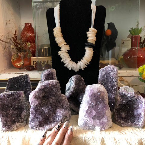 Amethyst Specimens, Flat Cut Base, Brazil